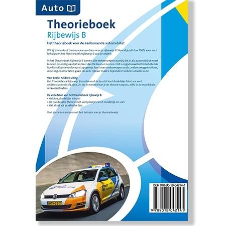 Theorieboek Auto Rijbewijs B - ANWB achterkant